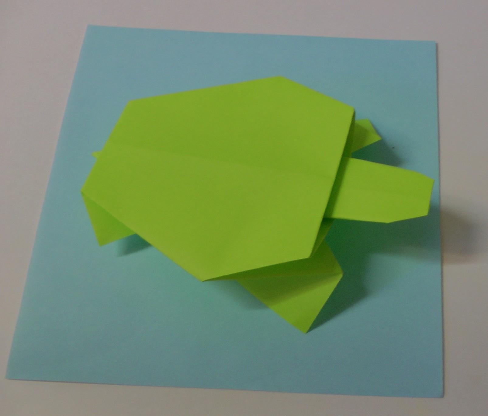 cara membuat origami | Origami easy, Origami turtle, Origami crafts | 1367x1605