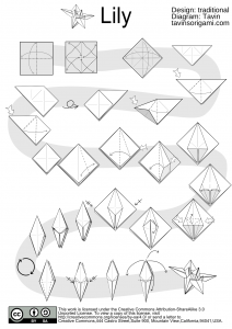 Lily Origami Diagram