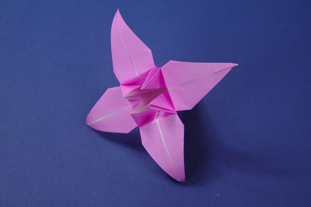 Origami Lily Flower Instructions Tavins Origami