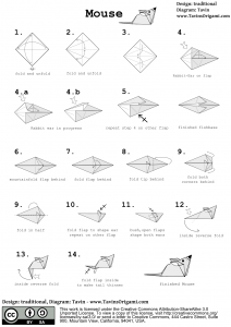instructions for an origami mouse
