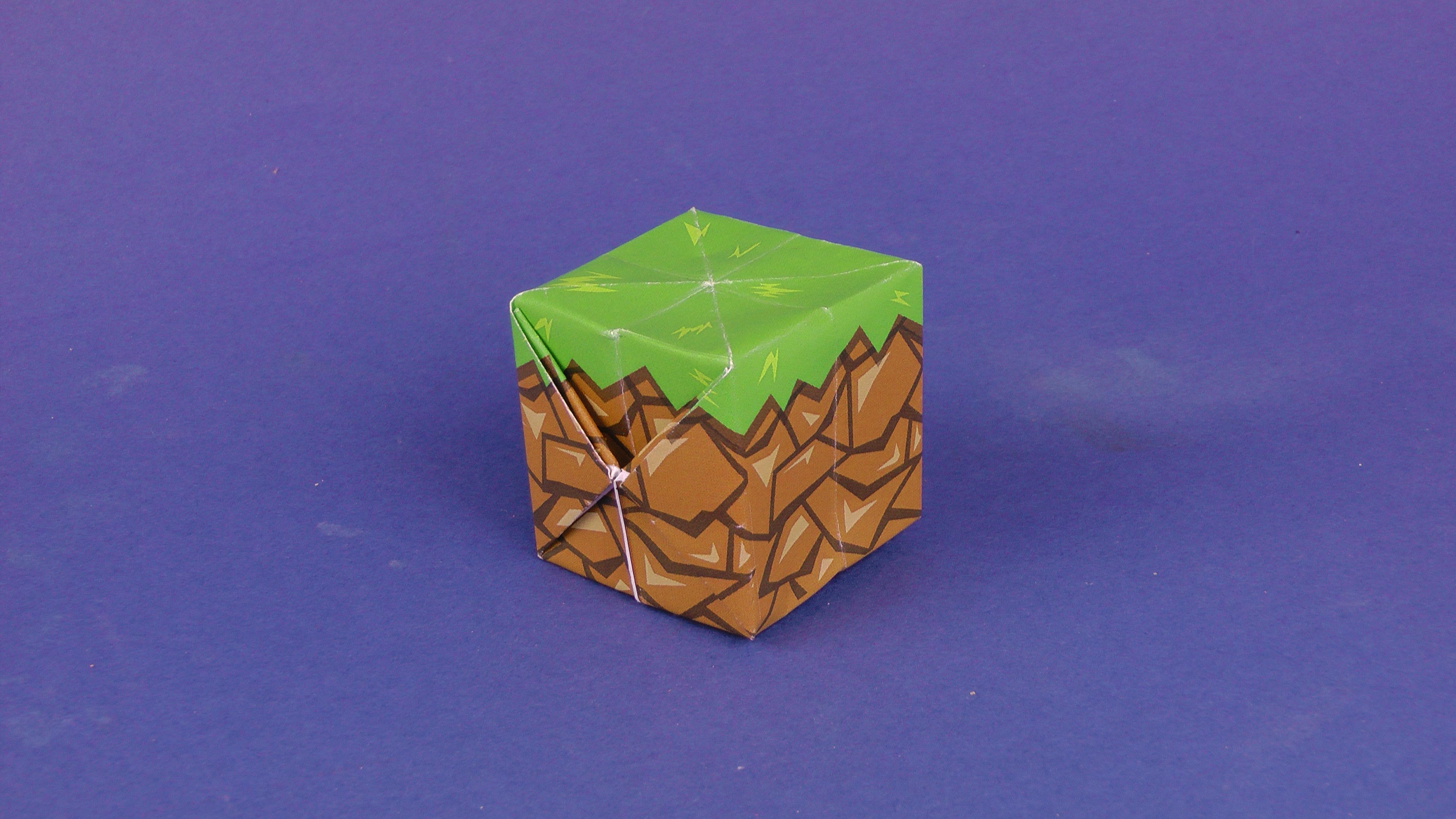 minecraft block origami tavins origami