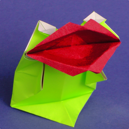 Kissing Frog Origami