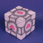 image of the origami companion cube