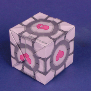 Cube (a.k.a. Waterbomb) Printable Origami Instructions | 300x300